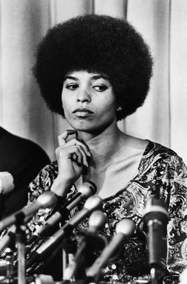 Political Activist Angela Davis at Press Conference